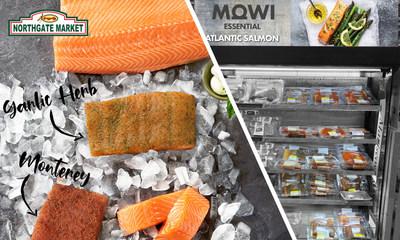 """Después de que Mowi Consumer Products presentara con gran éxito la marca MOWI® en el comercio electrónico en 2020, esta marca de salmón da un paso más al asociarse con NorthGate Gonzalez Market. MOWI Essential™ debuta en la cadena de supermercados Northgate Market con 6 unidades de almacenamiento (SKU): la línea básica y la línea ampliada con cortes exclusivos previamente sazonados. Se destacan sabores deliciosos como Monterey Style y Garlic Herb (""""ajo y hierbas"""") con otras variedades en desarrollo."""