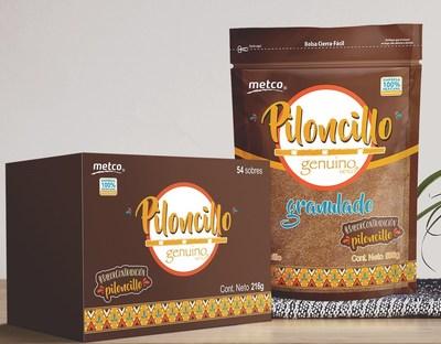 Presentación Piloncillo Granulado, cortesía de Metco®.