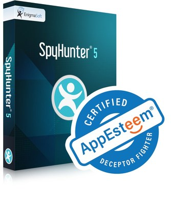 """SpyHunter 5 consigue la certificación como aplicación """"Deceptor Fighter"""" y """"limpia"""" por parte de la organización de revisión de software AppEsteem. (PRNewsfoto/EnigmaSoft Limited)"""