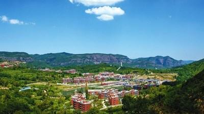 Vista de la población de Zhaojin, ciudad de Tongchuan, provincia de Shaanxi al noroeste de China. Gobierno de la ciudad de Tongchuan (PRNewsfoto/CGTN)