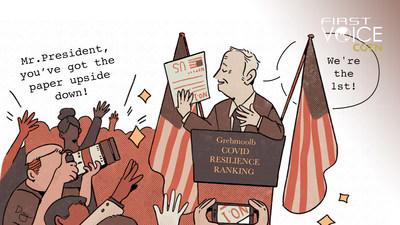 """El ranking COVID-19 de Bloomberg representa la idea de """"primero los negocios, después los humanos"""" (PRNewsfoto/CGTN)"""