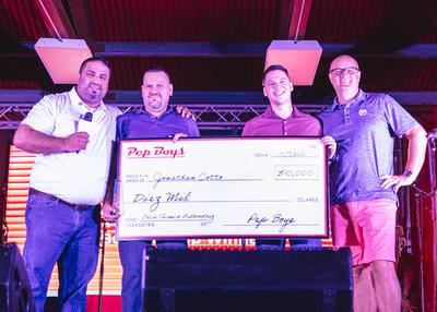 - Jonathan Cotto, miembro del equipo de Pep Boys y estudiante de Mech-Tech College, recibió una beca de $10,000durante el evento #PepBoysRoadTrip Puerto Rico. Pep Boys anunció recientemente a los 15ganadores de Find Your Drive, su programa anual de becas de $100,000.